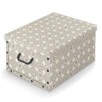 Béžový úložný box Domopak Ella