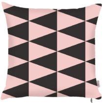 Obliečka na vankúš Apolena Pinky Triangles, 43 × 43 cm