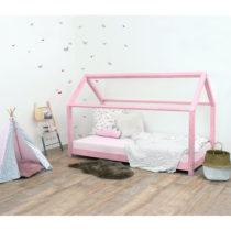 Ružová detská posteľ bez bočníc zo smrekov&...