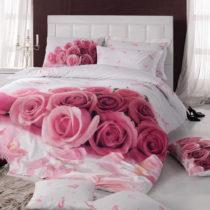 Ružové bavlnené obliečky s plachtou na dvojlô&#x1...