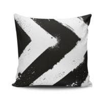 Čierno-biela obliečka na vankúš Calento Tassa, 45&a...