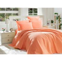 Oranžový posteľný set z bavlny na dvojlôžko...