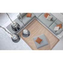 Oranžový vysokoodolný koberec Webtapetti Chrome, 135×...