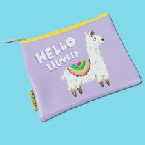Kozmetická taštička/peňaženka Happy News Hello Llov...