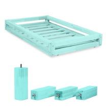 Sada modrej zásuvky pod posteľ a 4 predĺžených n&...