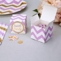 Sada 10 papierových darčekových škatuliek Neviti Pattern Works