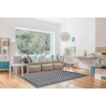 Vysokoodolný koberec vhodný do exteriéru Floorita Matrix Grey,1...