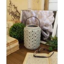 Sivý keramický lampáš Orchidea Milano Antique, vý&...