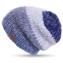 Modrá ručne háčkovaná čiapka DOKE Denim