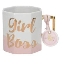 Porcelánový hrnček Creative Tops Girl Boss, 450 ml