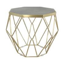 Konferenčný stolík s podnožou v zlatej farbe Livin Hill Glamou...