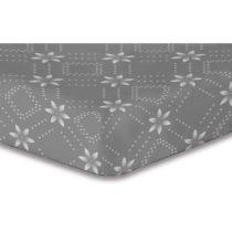 Sivá elastická plachta so vzorom DecoKing Hypnosis Snowynight, 100&#...