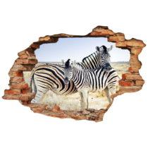 Samolepka Ambiance Landscape Zebra Mother, 60×90 cm