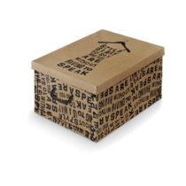 Škatuľa s čiernymi detailmi a úchytkami Domopak