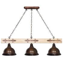 Stropné svietidlo s drevenými detailmi Glimte Albero I Tres