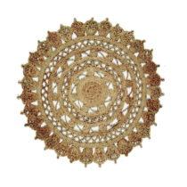 Jutový okrúhly koberec Eco Rugs Jamelia, Ø 120 cm