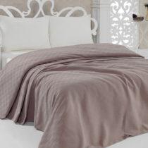 Prikrývka na posteľ Pique Pink, 160 × 240 cm