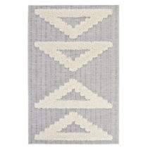 Sivý koberec Mint Rugs Handira Triangles, 77 × 150 cm