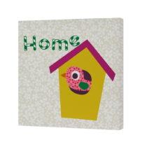 Nástenný obrázok Sweet Home Yellow, 27×27 cm