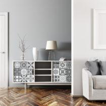 Sada 24 samolepiek na nábytok Ambiance Tiles Stickers For Furniture Luncino, 15&a...