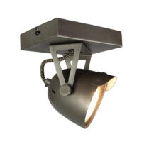 Sivé nástenné svietidlo LABEL51 Spot Moto Cap Uno