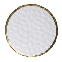 Biely porcelánový tanier InArt Goldie, ⌀30,5 cm