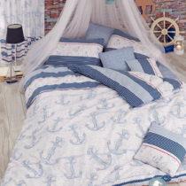 Modro-biele obliečky s plachtou Capa Light Blue, 200×220 cm