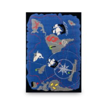 Modrý detský koberec Pirate, 133 × 190 cm