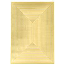 Žltý vysokoodolný a umývateľný koberec vhodn...