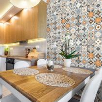 Sada 30 nástenných samolepiek Ambiance Wall Stickers Cement Tiles Azulejos Monteci...