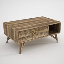 Odkladací stolík v orechovom dekore Yakamoz