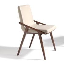 Krémová jedálenská stolička Ángel Cerd&#x...