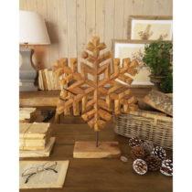Dekorácia z mangového dreva Orchidea Milano Snowflake, výška 50...
