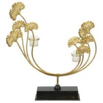 Svietnik v zlatej farbe Mauro Ferretti Iris