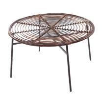 Ratanový konferenčný stôl so sklenenou doskou RGE Koriander, &a...