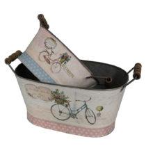 Sada 2 dekoračných nádob Antic Line Vélo