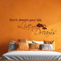 Čierna Nástenná samolepka Ambiance Live Your Dreams Wall Decal, 55&#...