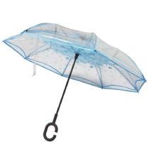 Transparentný dáždnik s modrými detailmi Water Lily, &#x230...