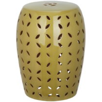 Zelený keramický odkladací stolík vhodný do exteri&...