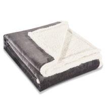 Sivá deka z mikrovlákna DecoKing Dimgray, 220×240 cm