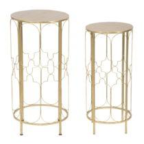 Sada 2 odkladacích stolku s konštrukciou v zlatej farbe Mauro Ferretti Balcony