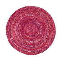 Ružový bavlnený kruhový koberec Garida, ⌀ 120 cm
