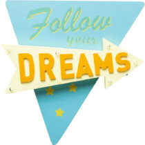 Modro-žlté nástenné svietidlo Kare Design Follow your Dreams