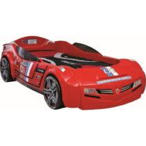 Červená detská posteľ v tvare auta Biturbo Carbed Red, 90 &...