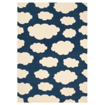 Detský tmavomodrý koberec Zala Living Cloud, 140×200&...