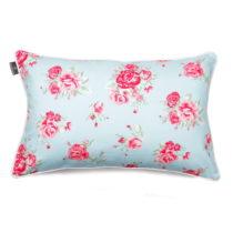 Mentolovomodrá obliečka na vankúš WeLoveBeds Roses, 40 &#x...