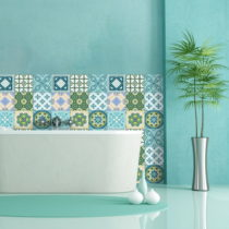 Sada 9 dekoratívnych samolepiek na stenu Ambiance Riviera, 10×...