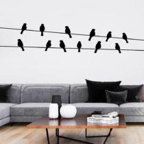 Samolepka Ambiance Birds on the Wire