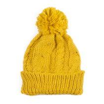 Žltá čiapka s brmbolcom Jimmy