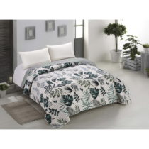 Obojstranná prikrývka na posteľ z mikrovlákna AmeliaHome Botani...